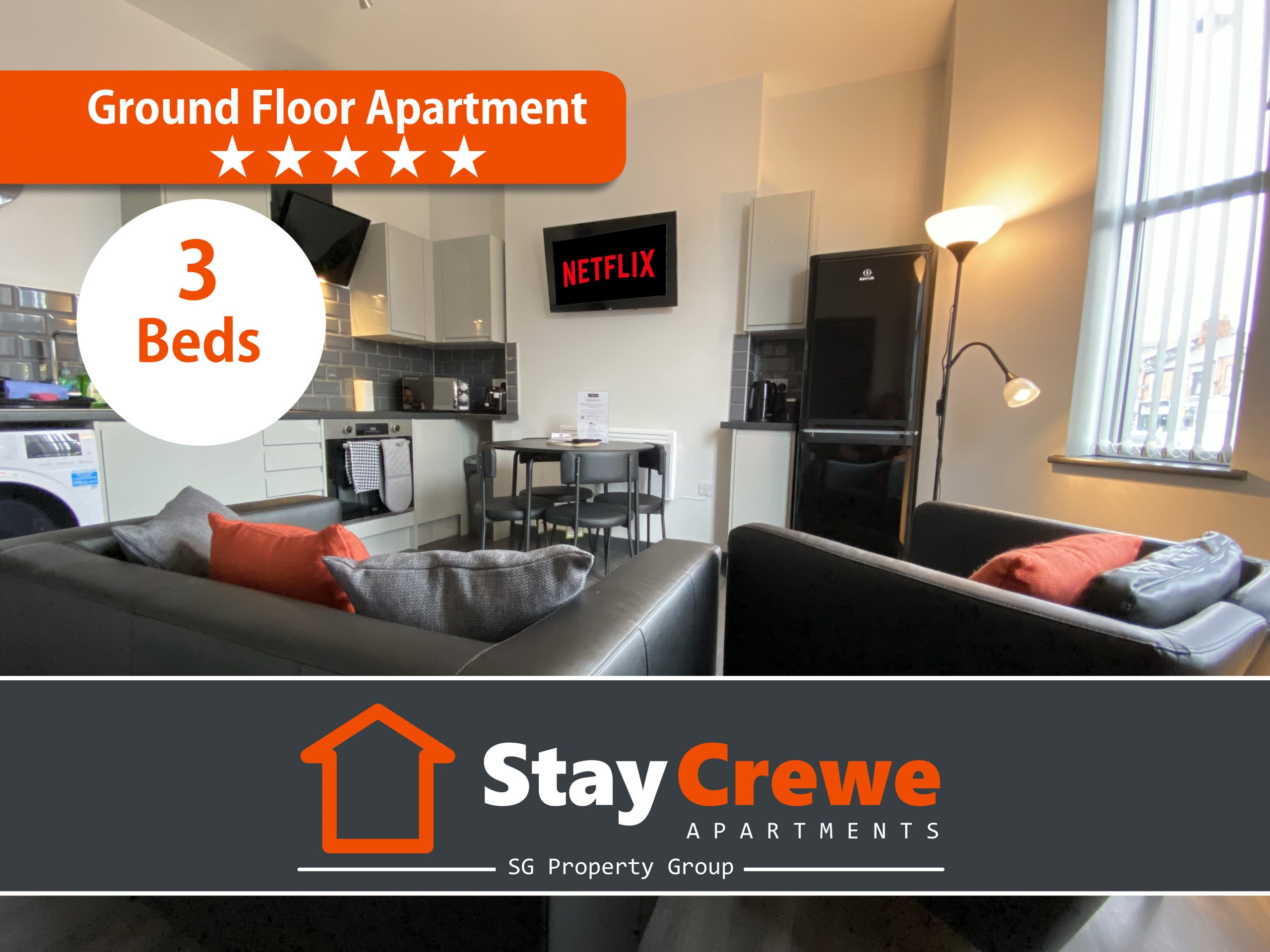 StayCrewe Apartments – Apt 1